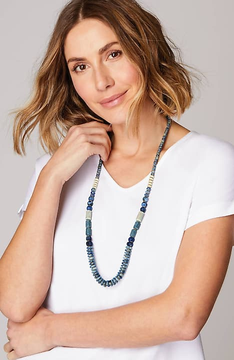 pure jill blue note semiprecious necklace