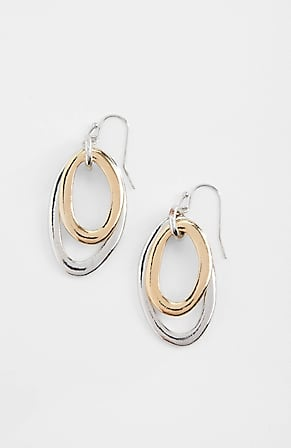 Image for Sculptural Mixed-Metal Rings Earrings