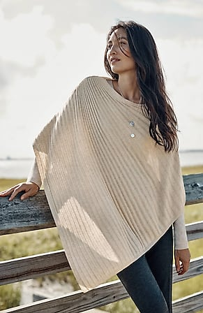 Image for Asymmetric Ribbed Poncho