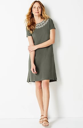 Image for Embroidered High-Low Tee Dress