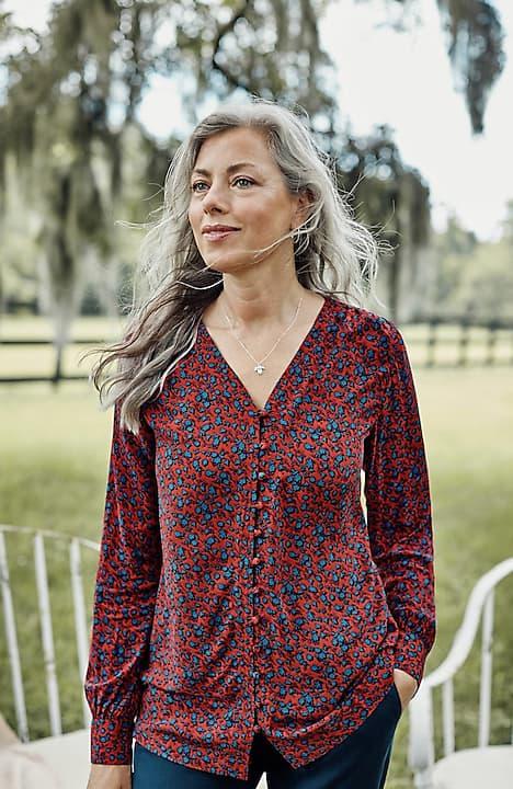 soft rayon printed blouse