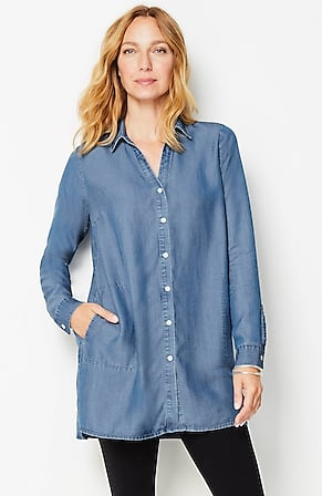 Image for Tencel™ Indigo A-Line Tunic