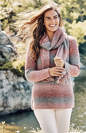 Image for Ombré Stripes Textured Sweater