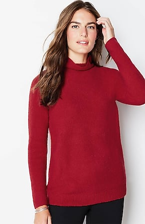 Image for Draped Funnel-Neck Sweater