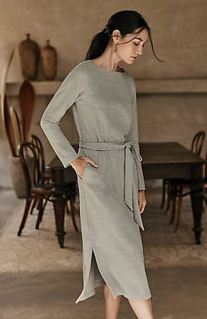Image for Pure Jill Soft-Brushed Belted Dress