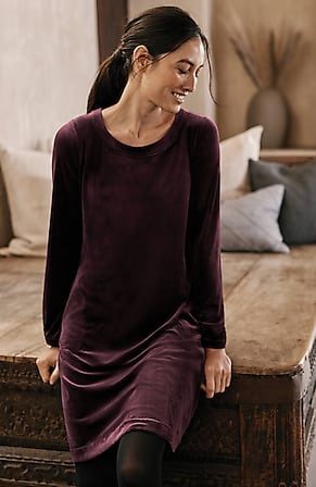 Image for Pure Jill Velour A-Line Dress