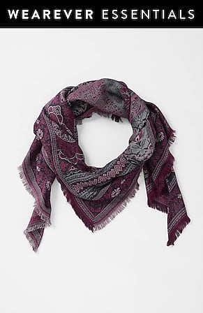 Image for Jacquard Patchwork Triangle Scarf