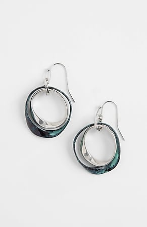 Product Image for Pure Jill Patina Frontal-Hoop Earrings