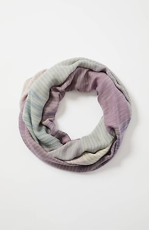 Image for Space-Dyed-Stripes Infinity Scarf