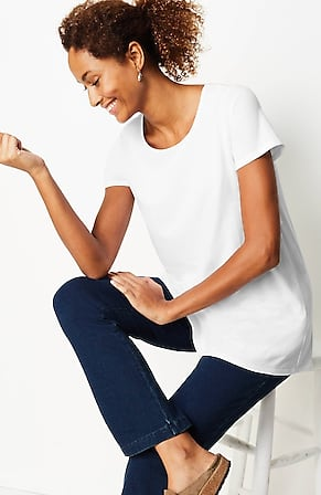 Image for Pure Jill Scoop-Neck Elliptical Tee