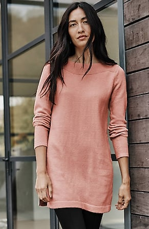 Image for Boat-Neck Sweater Tunic