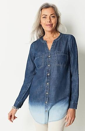 Image for Indigo Dip-Dyed Tunic