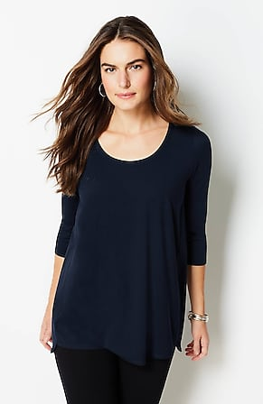 Image for Luxe Supima® A-Line Tunic