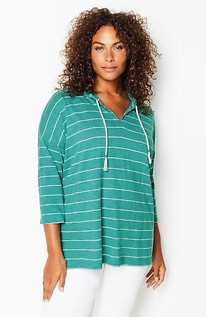 Image for Relaxed Striped Hoodie