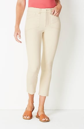 Image for High-Rise Patch-Pocket Cropped Jeans