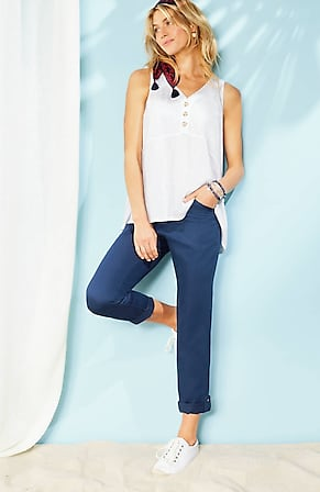 Image for Knit-Waist Cropped Cargo Pants