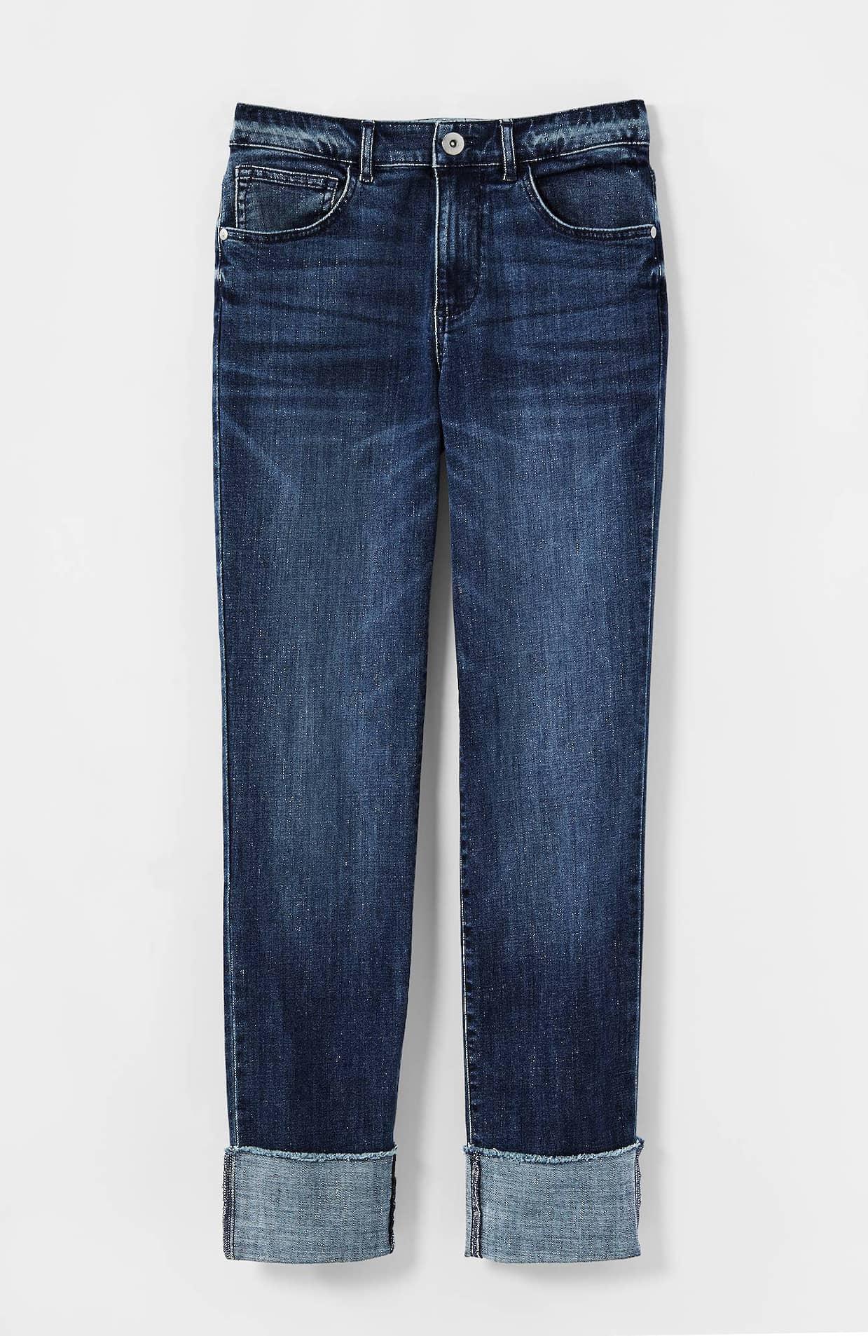 High Rise Cuffed Jeans   JJill