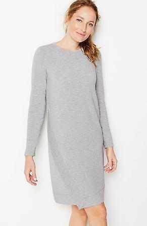 Image for Fit Ultimate-Fleece Asymmetric-Hemline Dress