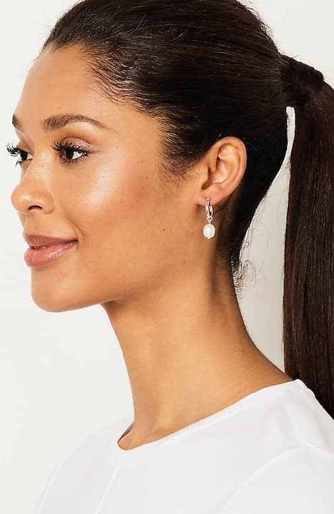 j.jill x instyle compassion fund sterling silver & pearl earrings