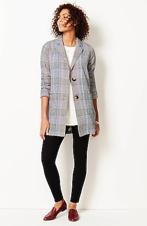 Image for Easy Textured-Plaid Jacket