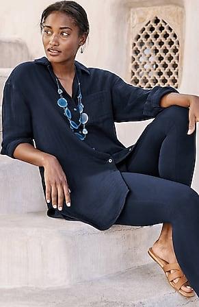 Image for Pure Jill Cotton Double-Cloth Tunic
