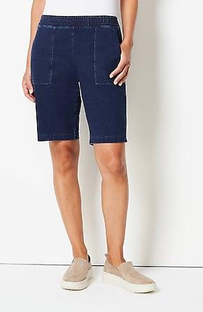 Image for Pure Jill Indigo Knit Jean Shorts