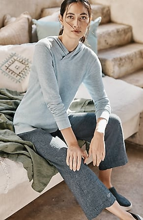 Image for Pure Jill Linen & Cotton Straight Full-Leg Crops