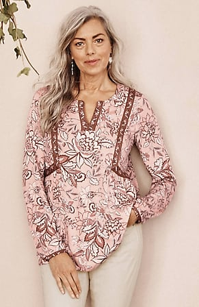 Image for Floral Peasant Top