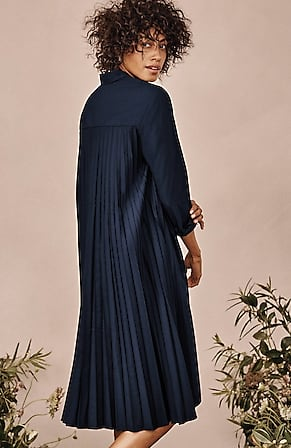 Image for Pleated-Back Elliptical Shirtdress