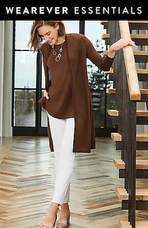 Image for Wearever Light & Airy Open-Front Cardi