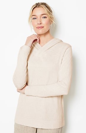 Image for Pure Jill Luxe Cotton & Cashmere Hoodie