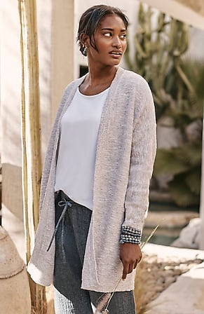 Image for Pure Jill Cotton-Rich Textured Cardi