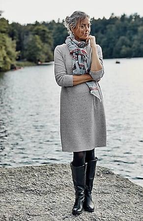 Image for Ottoman-Knit A-Line Dress