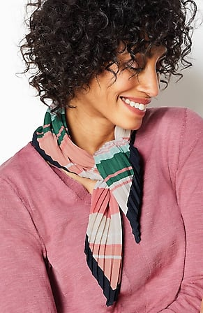 Image for Variegated-Stripes Pleated Neckerchief