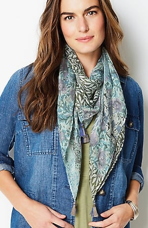Image for Patchwork-Print Square Scarf