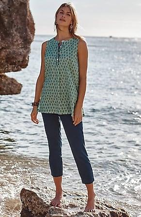 Image for Pure Jill Indigo Slim-Leg Crops