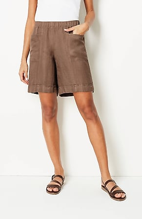 Image for Linen & Rayon Cuffed Shorts