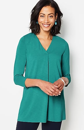 Image for Wearever Pleated-Neckline Tunic