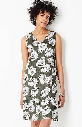 Image for Flounced-Hem Double V-Neck Knit Tank Dress
