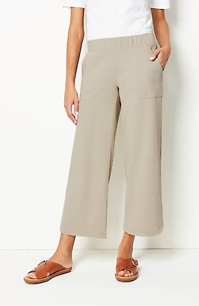 Image for Pure Jill Jersey-Knit Straight-Leg Crops