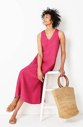 Image for V-Neck A-Line Midi Dress