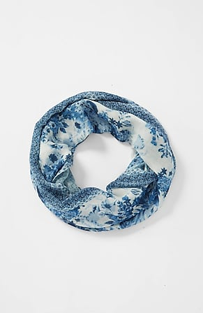 Image for Multi-Floral Bordered Infinity Scarf