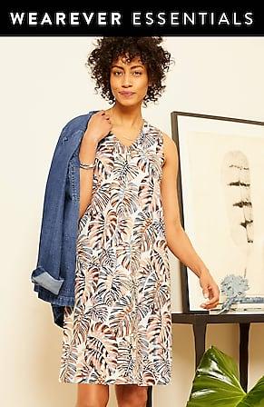 Image for Wearever V-Neck A-Line Dress
