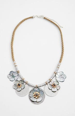 Image for Shell-Flower Statement Necklace