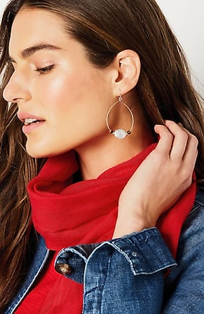 Image for Artful Elements Statement Hoop Earrings