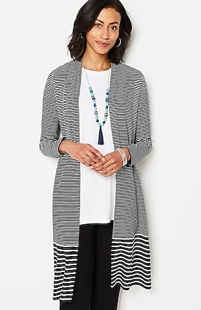 Image for Wearever Mixed-Stripes Duster