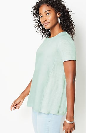 Image for Linen Mixed-Media Tee
