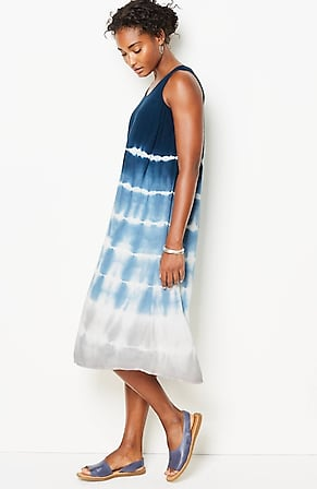 Image for Pure Jill Tie-Dyed Shirttail Dress