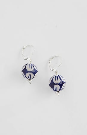 Image for Porcelain Blue Drop Earrings