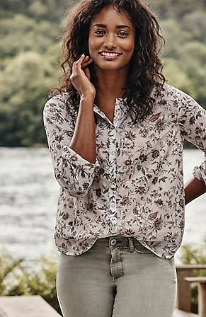 Image for Shirred Voile Blouse